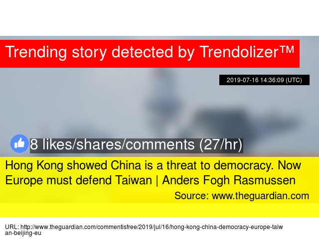 Hong Kong showed China is a threat to democracy  Now Europe