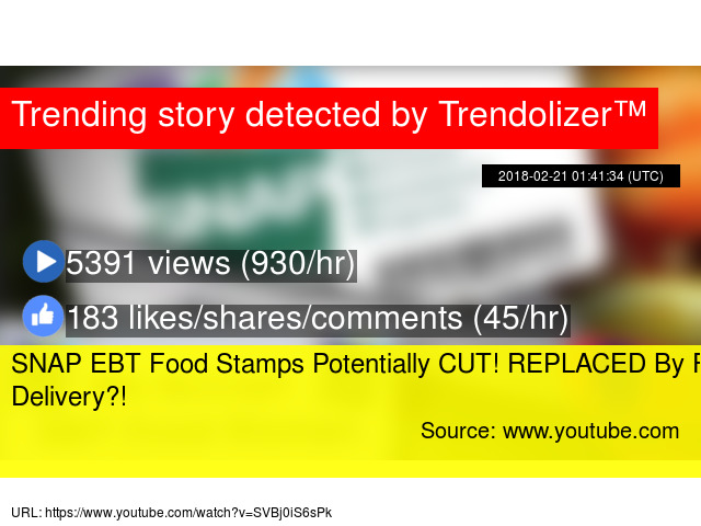 SNAP EBT Food Stamps Potentially CUT! REPLACED By Food